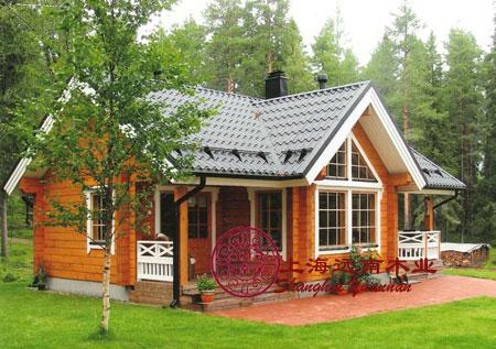 供应用于设计图纸的中式坡屋顶带车库二层别墅外观