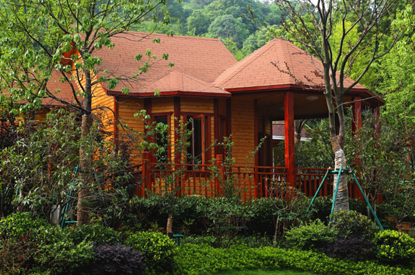 生态木屋 独享欧式私家花园别墅
